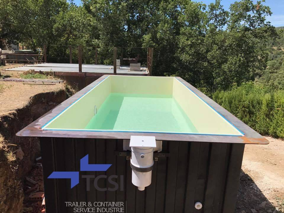 Piscine en container maritime hautes alpes vente et for Piscina container