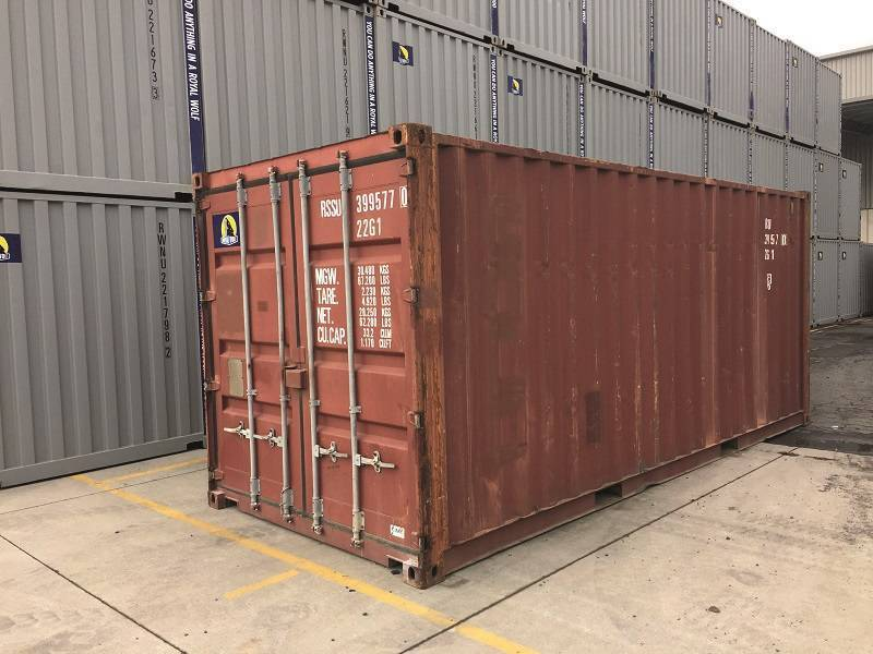 Container 20 pieds dry occasion, Le Havre